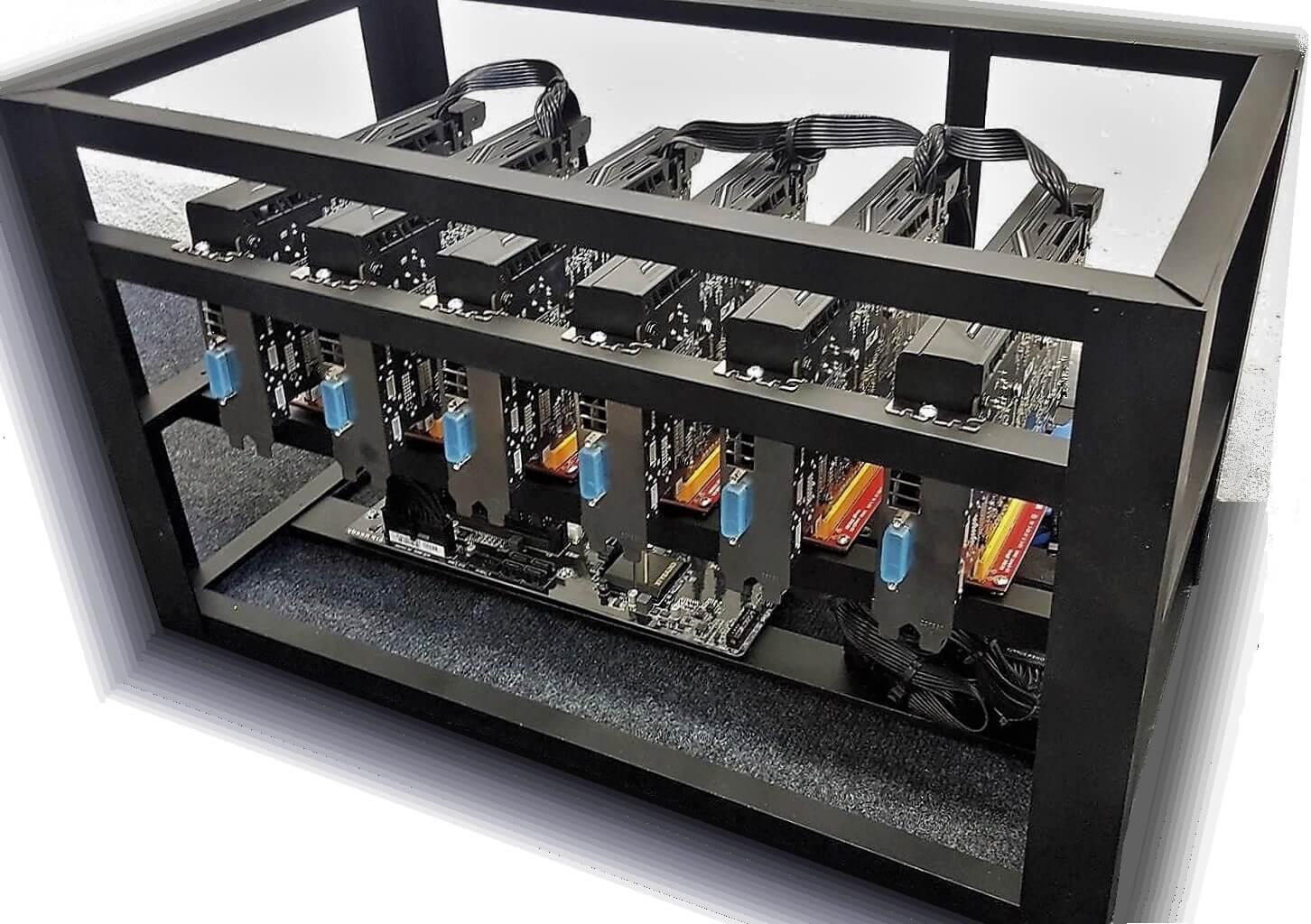 ITCA Poseidon - výroba mining rigu na ťažbu kryptomien, stavba