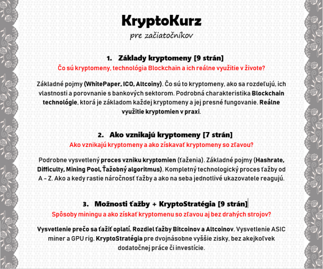 KryptoKurz Obsah 1-3