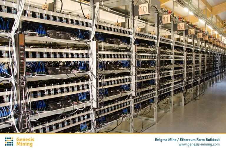 Ťažba Kryptomien - Genesis Mining - ťažobné farmy
