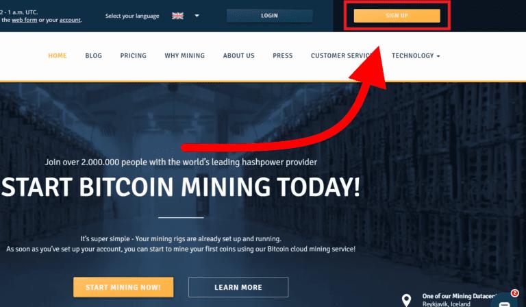 1. Registrácia účtu - Genesis mining