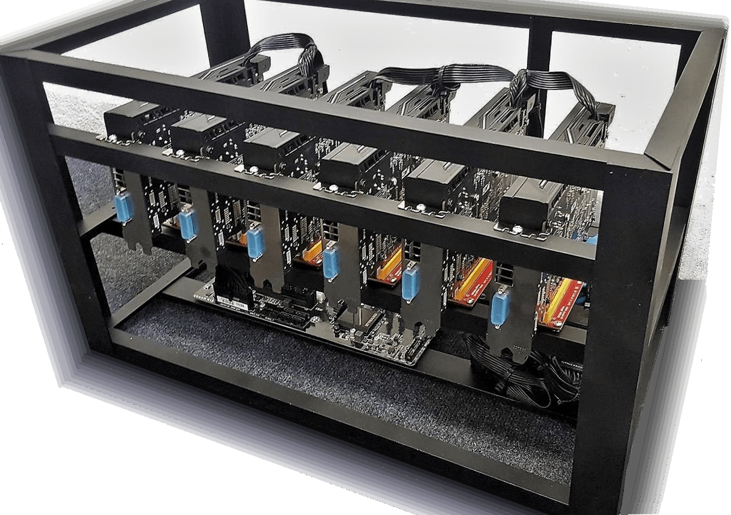 GPU mining RIG – Profi Výroba už od @2015. PLUG-&-PLAY system.