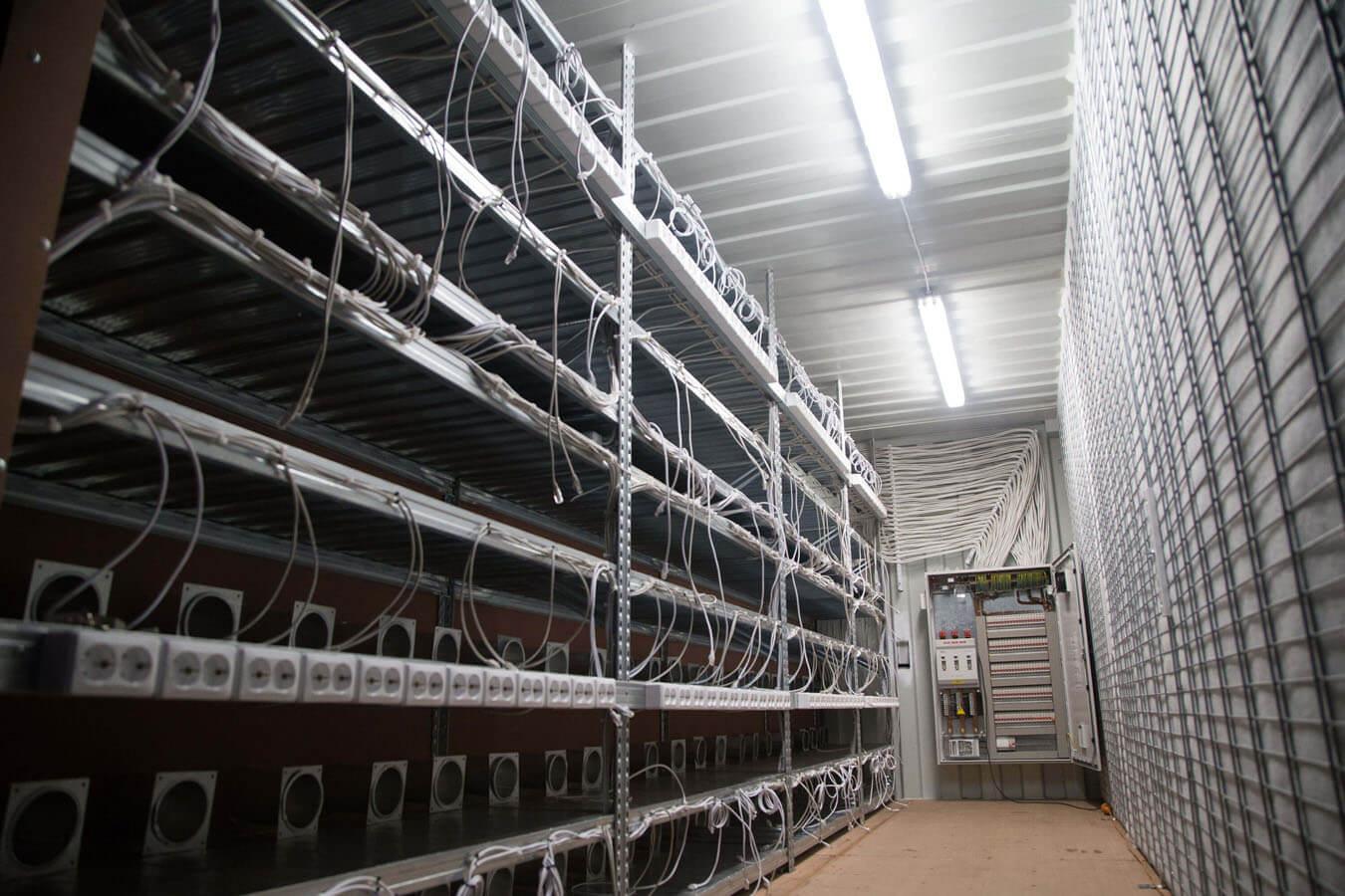 Ťažba Kryptomien - Kontajner - Farma - Datacentrum
