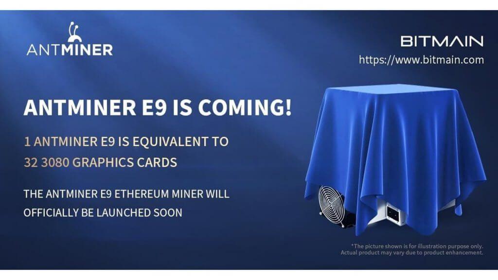 Antminer E9 - ETH miner na ťažbu kryptomien - Bitmain - na predaj